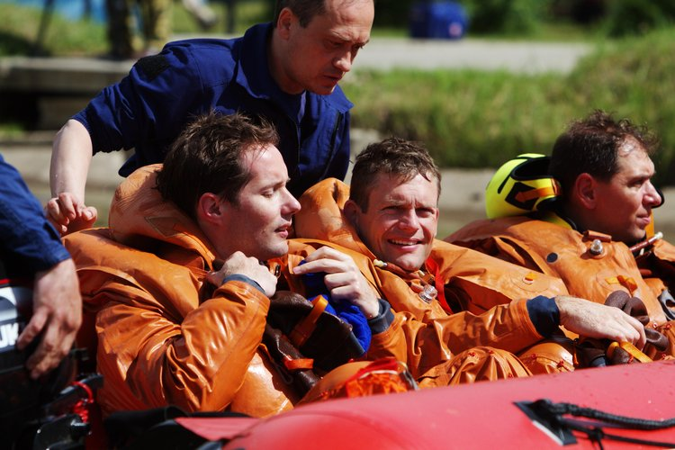 Thomas, Andreas and Sergei during survival training