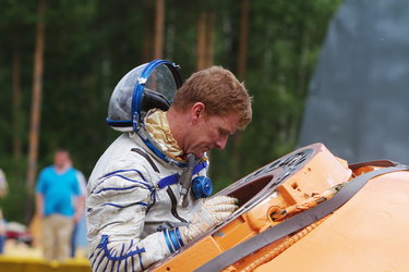 Timothy Peake during survival training