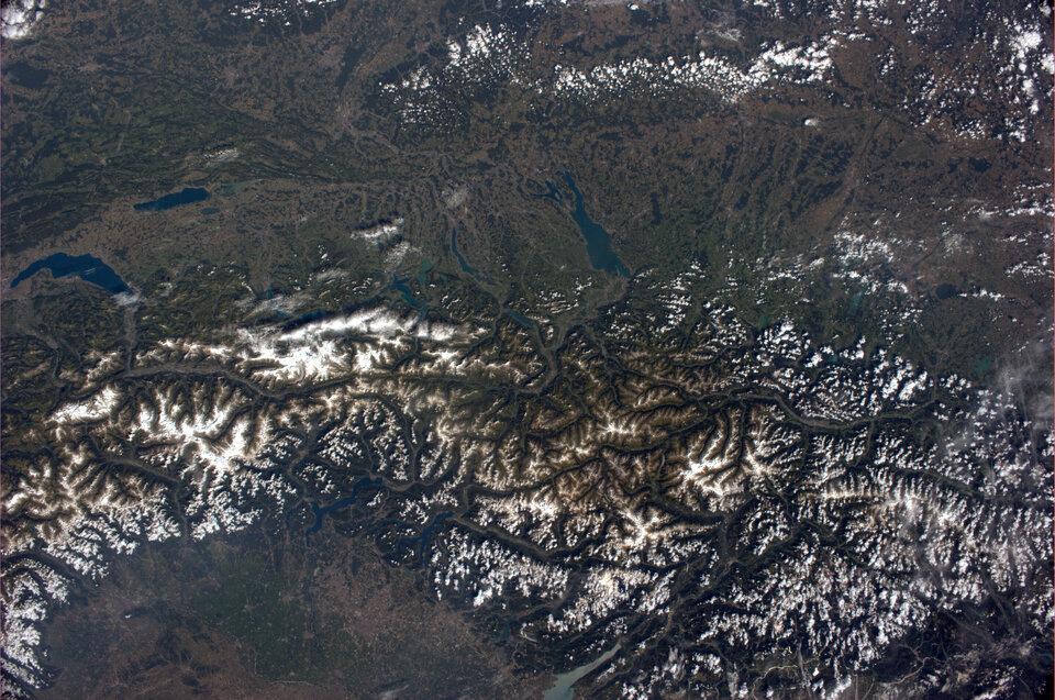 La ciudad natal de Samantha, vista desde el espacio