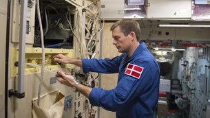 Den danske astronaut Andreas Mogensen under træning