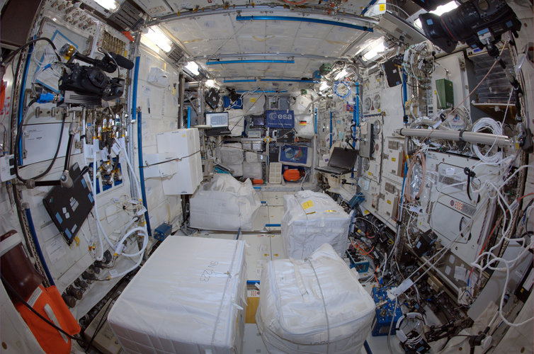 Inside Columbus space lab