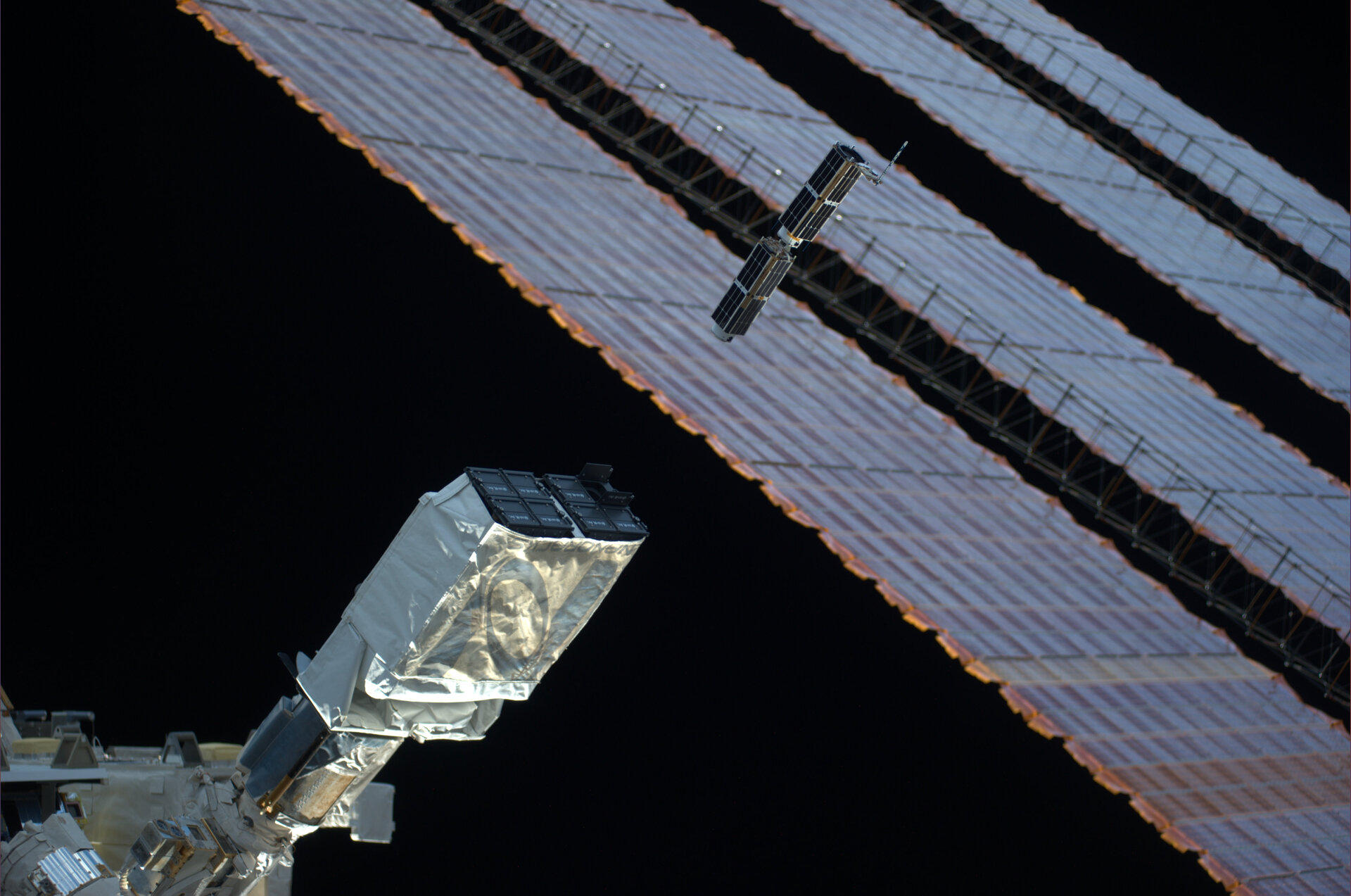 CubeSats launched from ISS