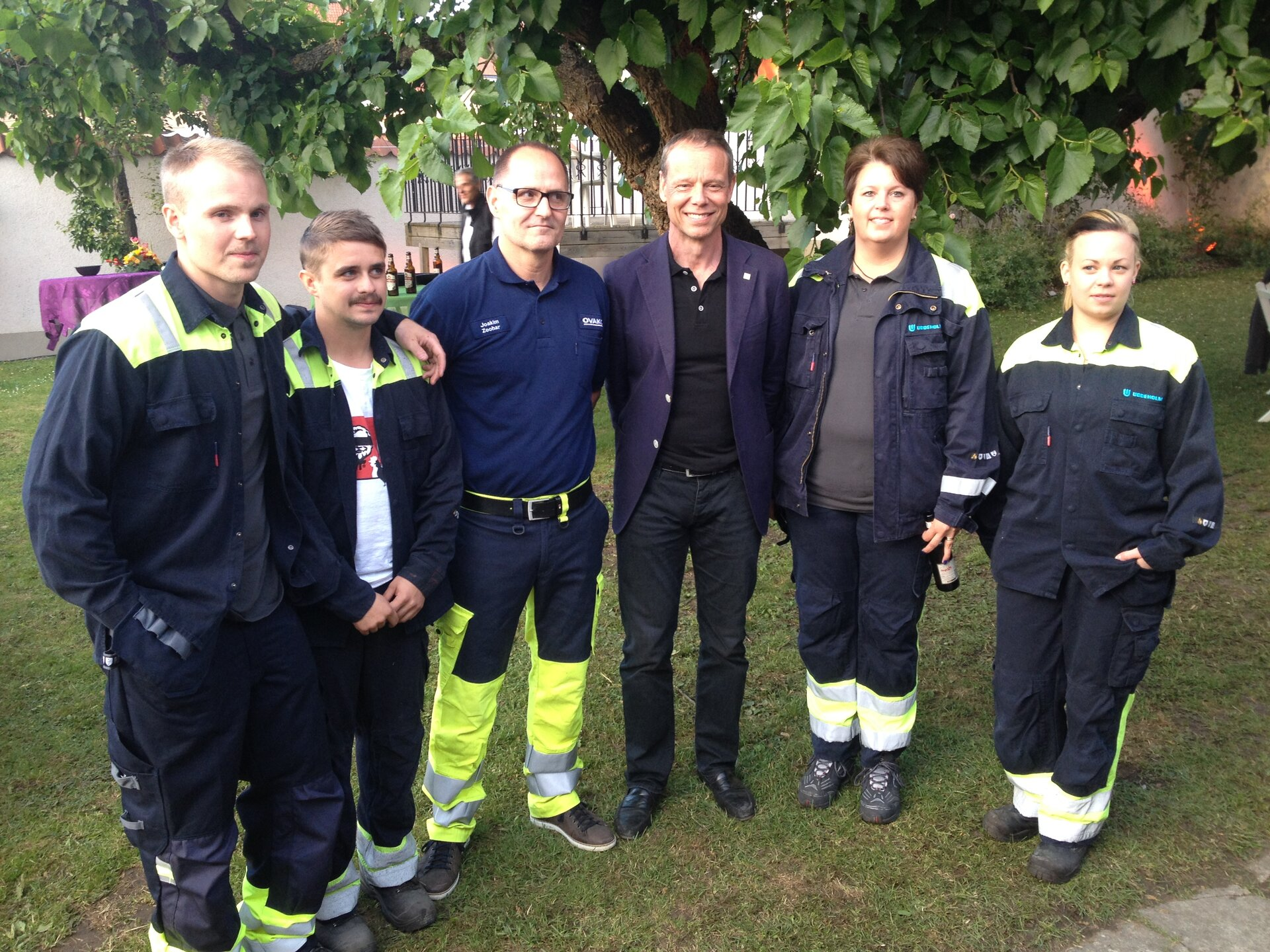 Christer Fuglesang and steel mill workers