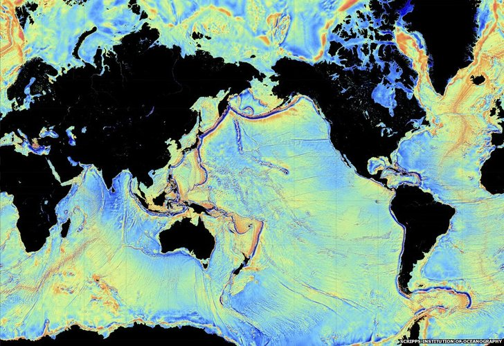 Gravity reveals seafloor