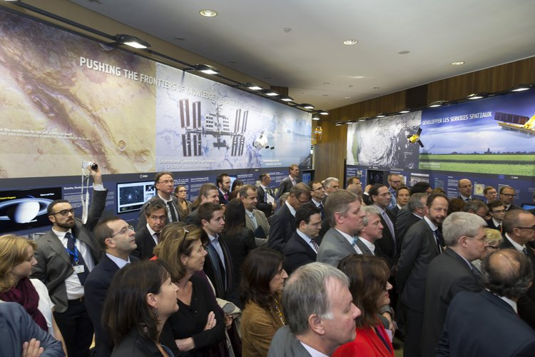 Inauguration of the 'Space For Our Future' exhibition
