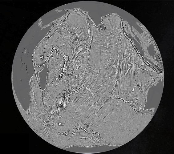 Indian Ocean bed imprinted in gravity