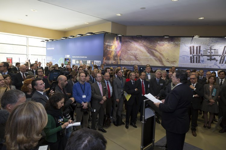 José Manuel Barroso at the 'Space For Our Future' exhibition inauguration