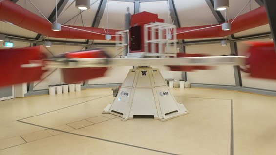 Large Diameter Centrifuge at full speed