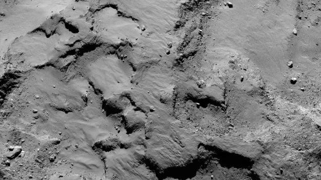 Philae s primary landing site mosaic large - Rosetta probe & Philae lander approach comet