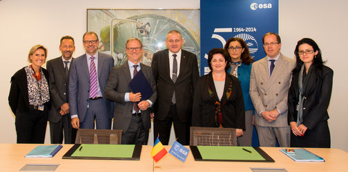 Signature of the Romanian MULTIPLY airborne contract