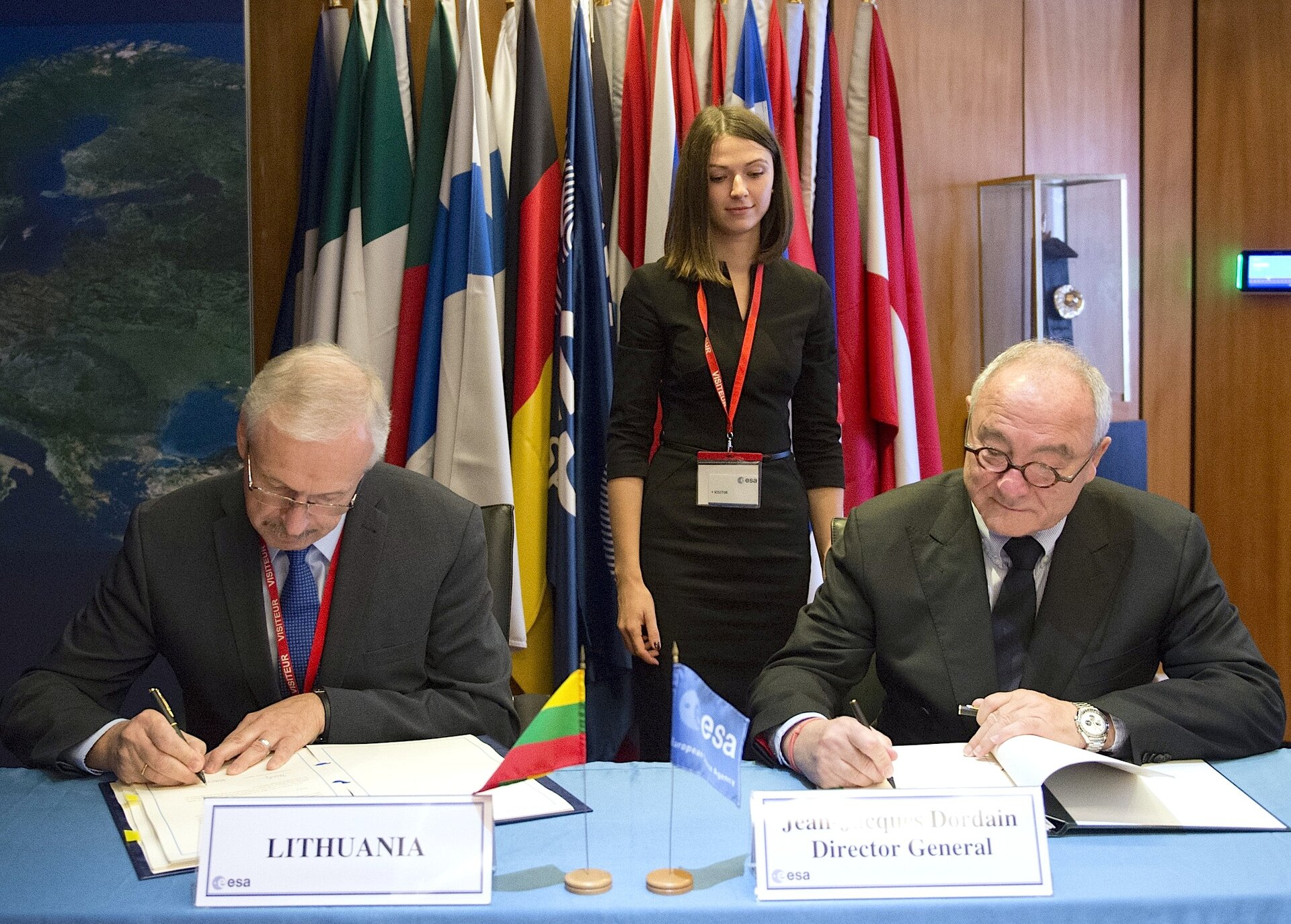 Signing of Lithuania ECS agreement