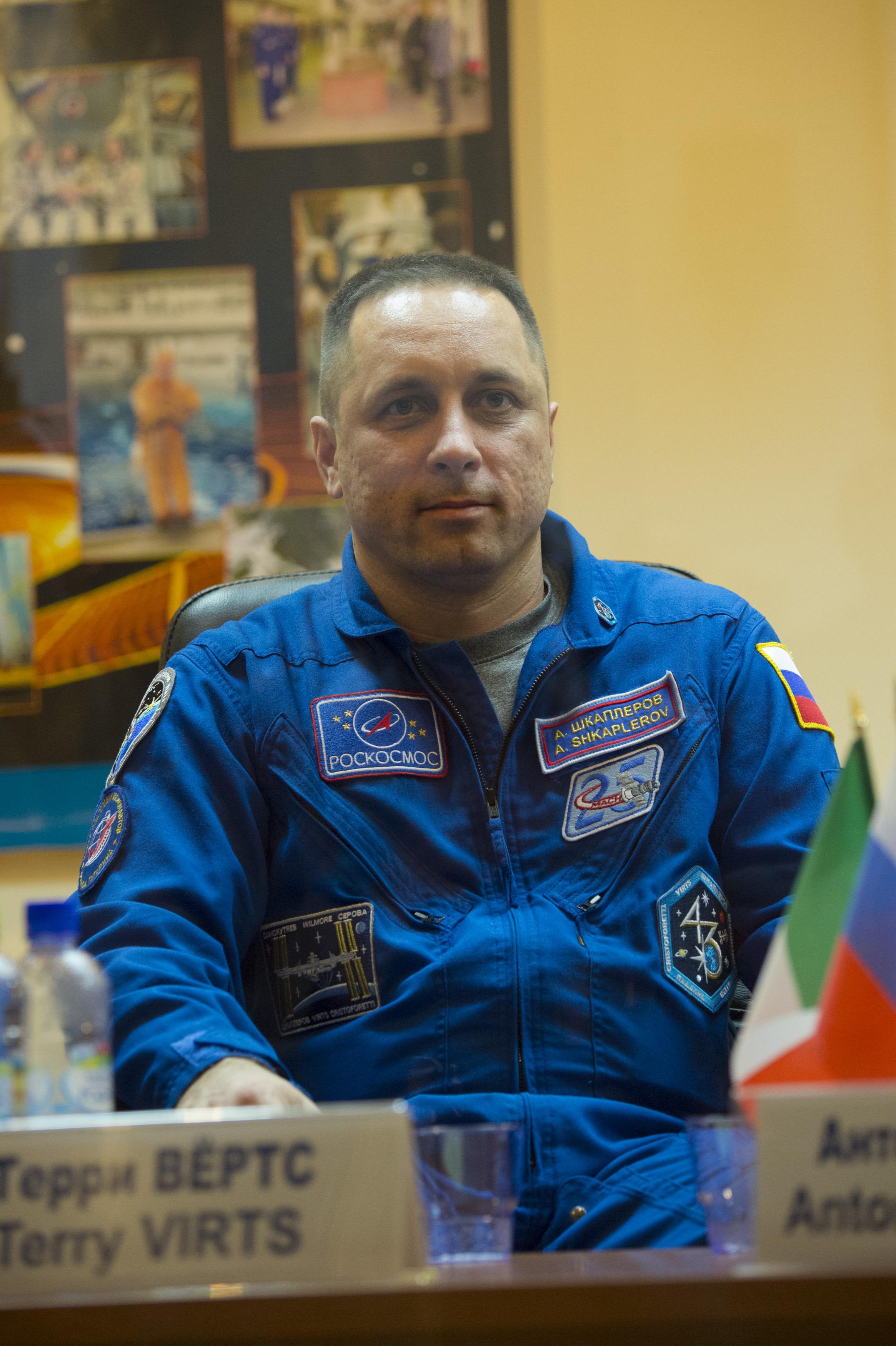 Anton Shkaplerov Space in Images 2014 11 Anton Shkaplerov during