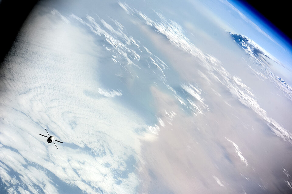ATV-5 over Earth