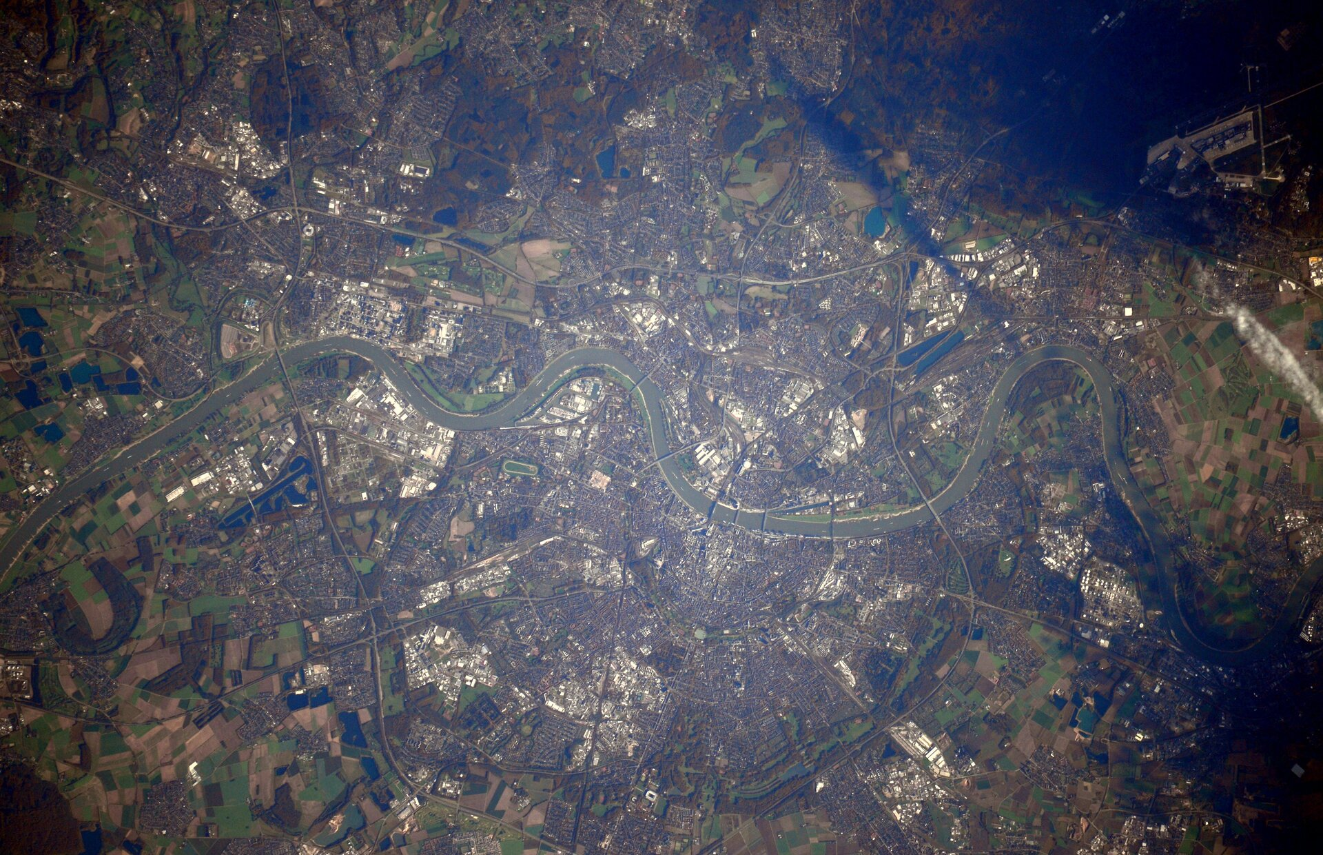 Cologne seen from Space Station