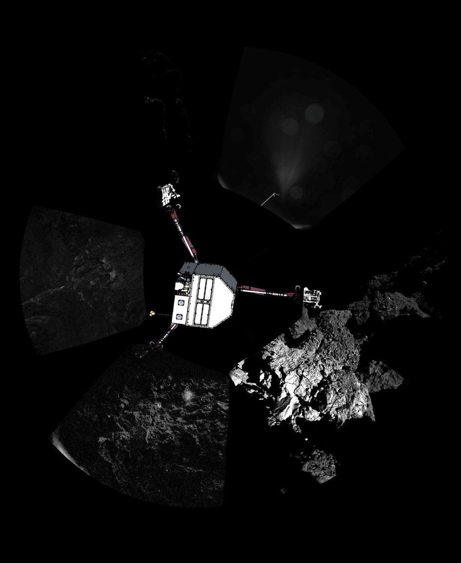 Comet panoramic – lander orientation