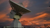 ESA's deep-space tracking station in Argentina seen while relaying signals from Philae