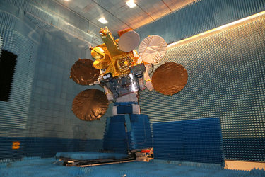 The Eutelsat-9B/EDRS-A satellite after passing crucial readiness tests for space
