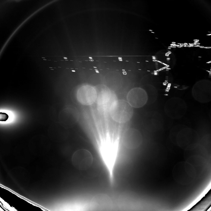 Philae's parting image of Rosetta, taken shortly after separation