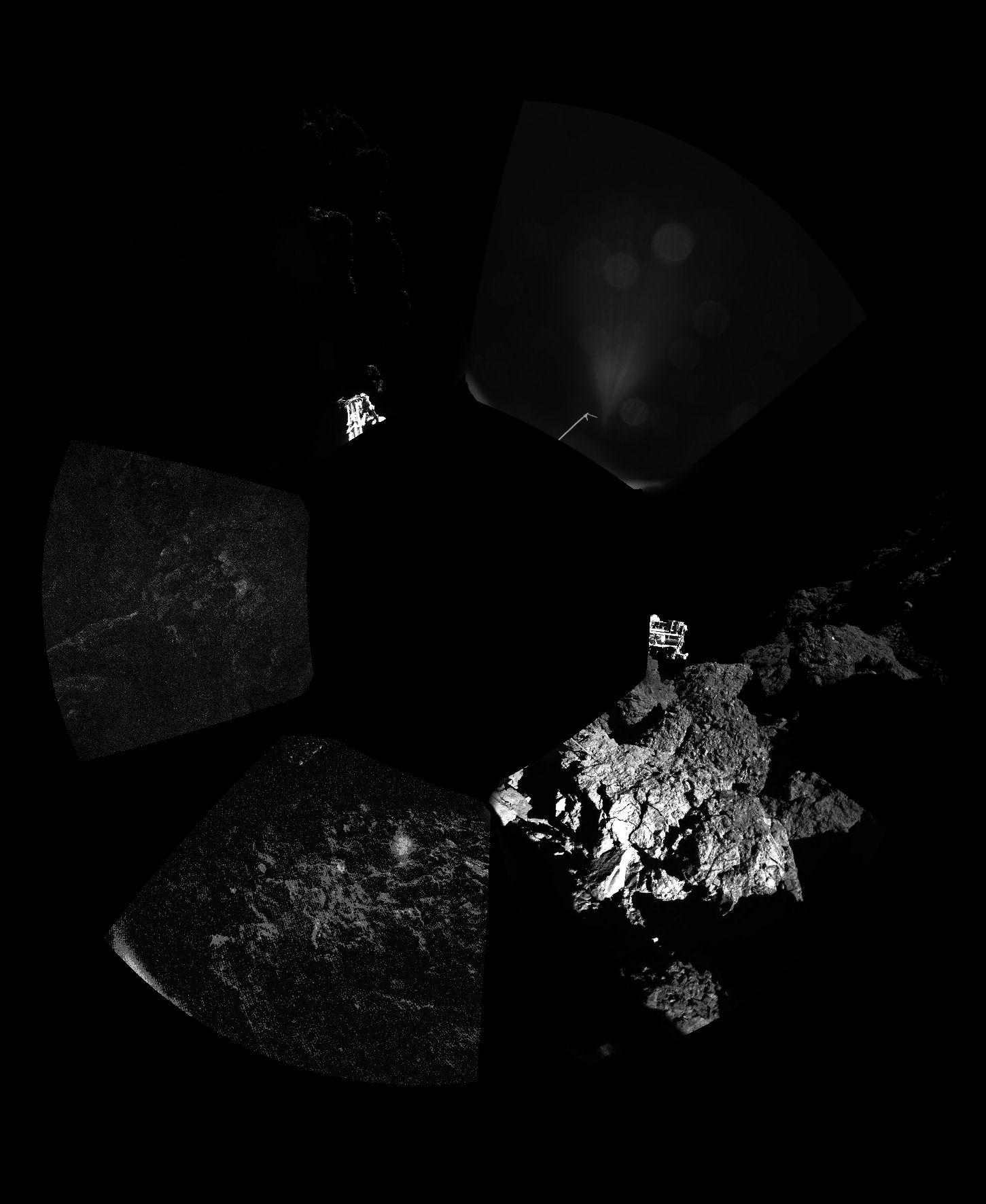 Kometa 67P/C-G, první panorama