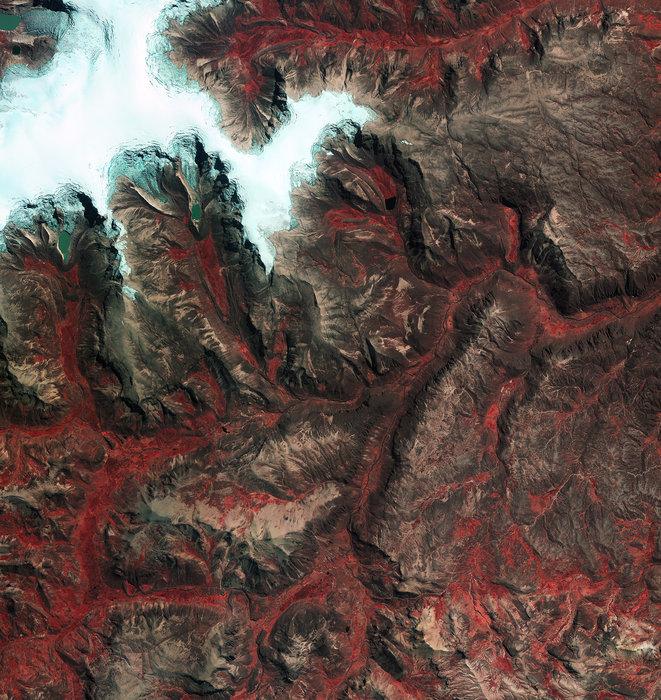 Quelccaya ice cap Peru node full image 2 - ESA satellite pictures