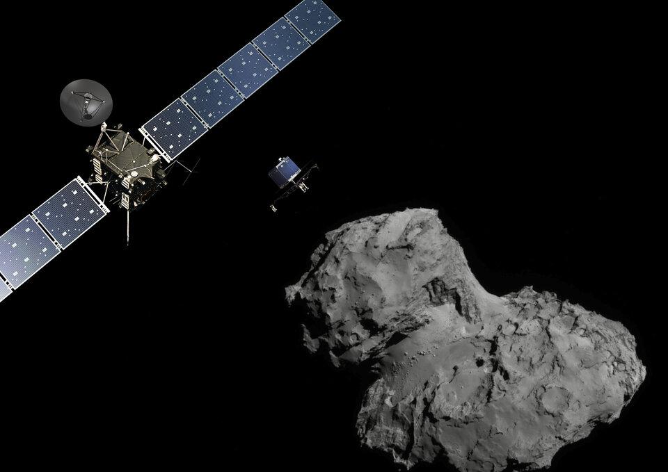 Rosetta und der Komet 67P/ Tschurjumow-Gerassimenko.