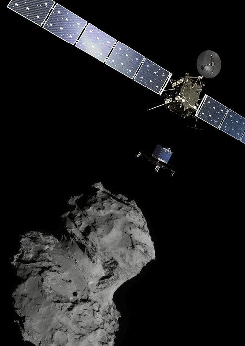 Space in Images - 2014 - 11 - Rosetta at Comet (portrait)