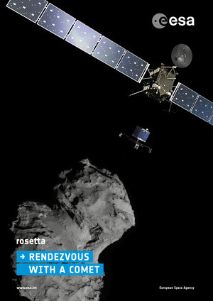 Rosetta at Comet Poster (portrait)