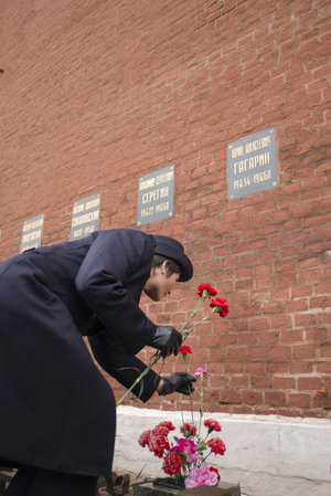 Samantha Cristoforetti at the Kremlin Wall