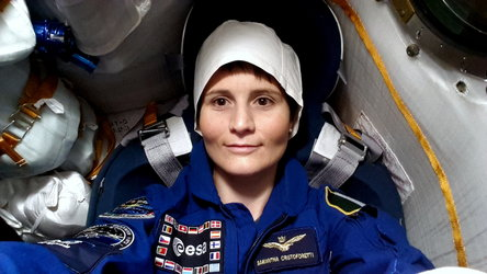 Samantha in Soyuz