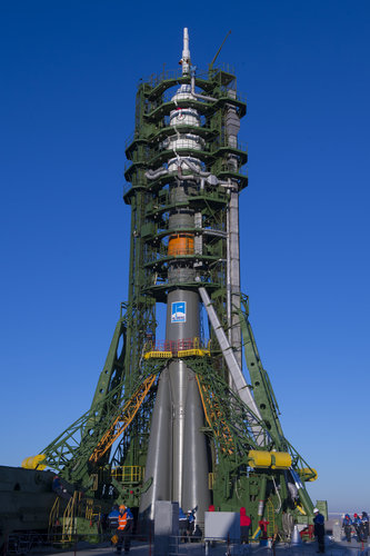 Soyuz TMA-15M spacecraft ready for launch