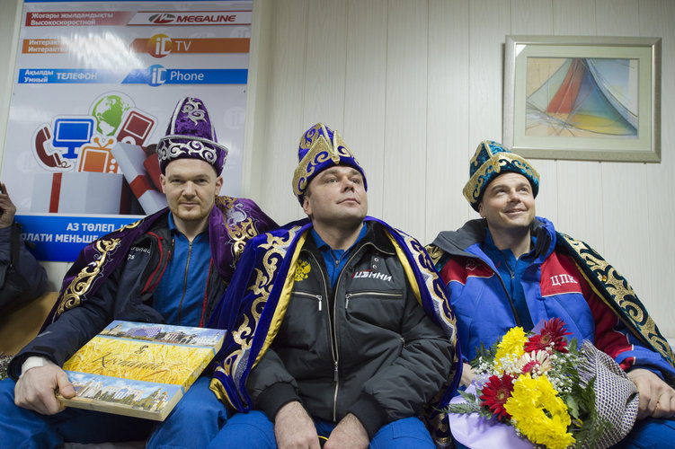 Welcome ceremony at the Kustanai Airport in Kazakhstan