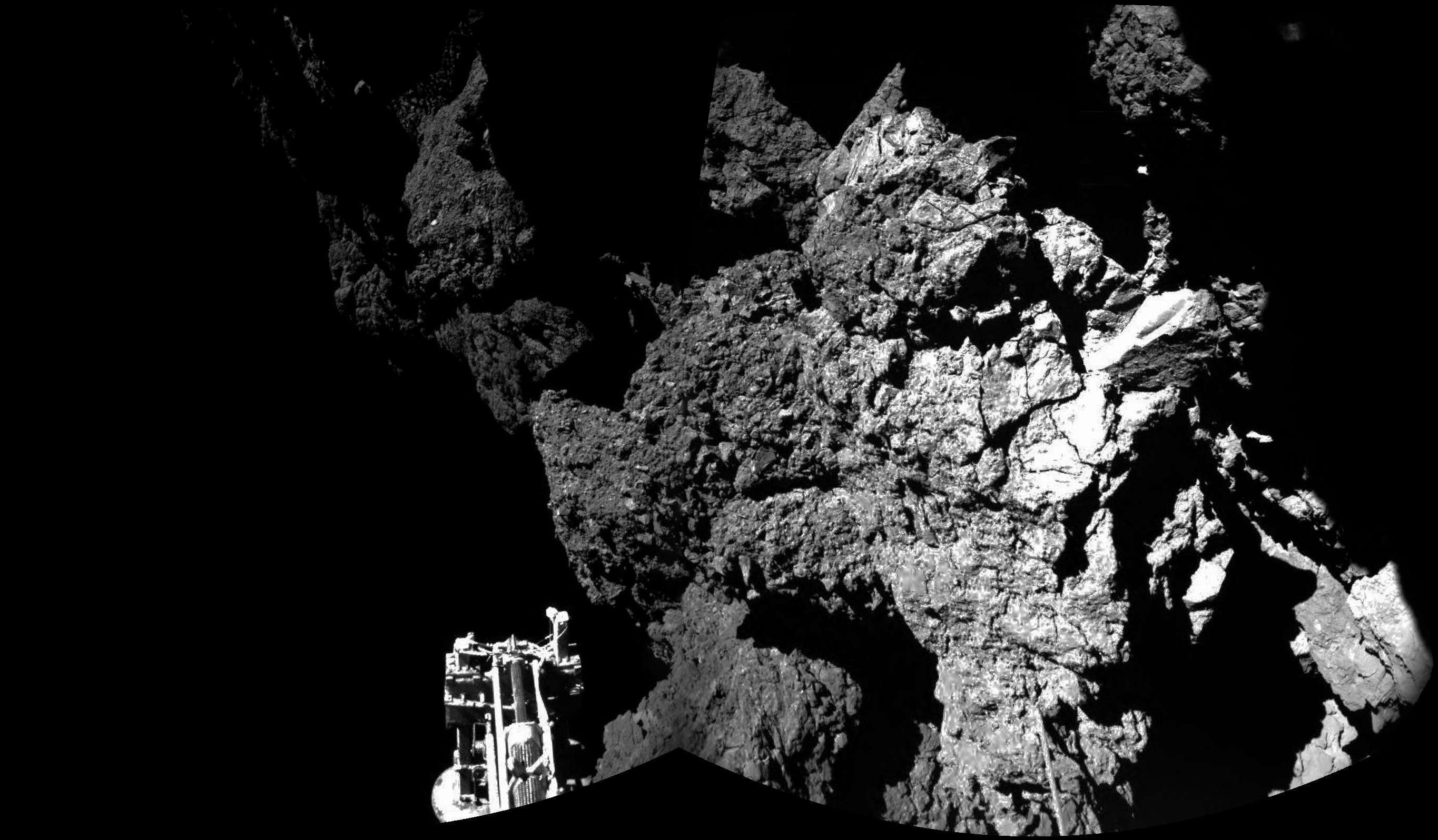 philae photo of comet