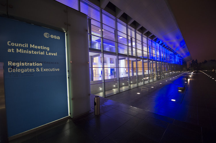 Entrance of the NCCK before the ESA Council at Ministerial Level