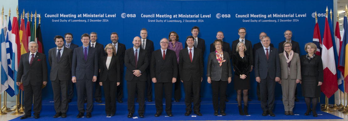 European ministers and representatives at the ESA Council at Ministerial Level, Luxembourg, on 2 December 2014