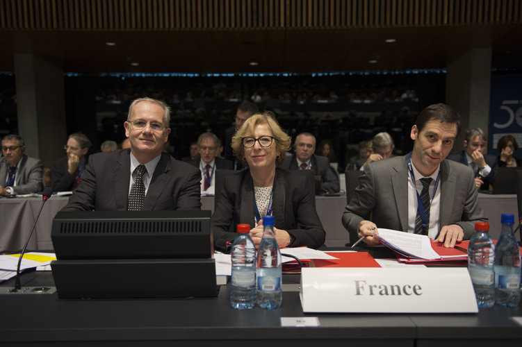 Jean-Yves Le Gall and Geneviève Fioraso at the ESA Council at Ministerial Level