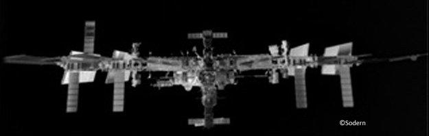 ISS set fra ATV  under den automatiske doknings-manøvre