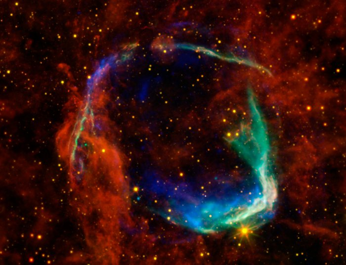 Multicoloured view of supernova remnant