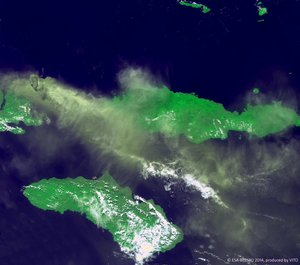 Proba-V images Indonesian volcano