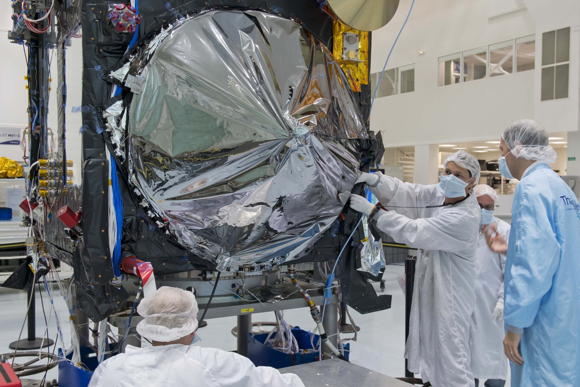 Sentinel-3A antenna covered