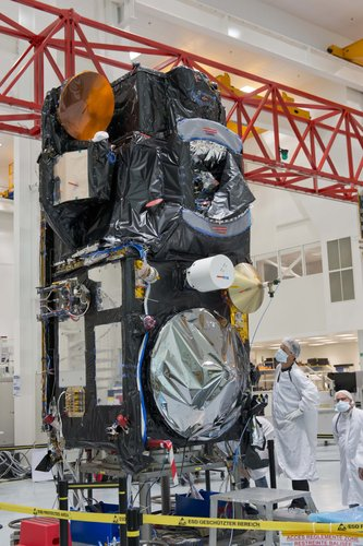 Sentinel-3A standing proud