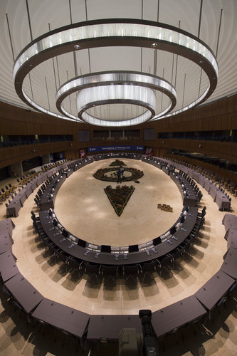 View of the conference room before the ESA Council at Ministerial Level