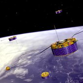 The Cluster satellites are being moved into a new formation to study Earth's bow shock