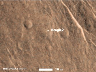 Colour image of Beagle-2 on Mars