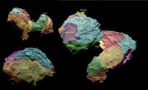 El cometa 67P, lleno de peculiaridades y procesos en marcha