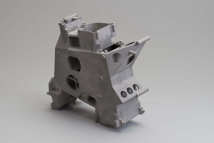 Instrument housing produced with 3D printed mould