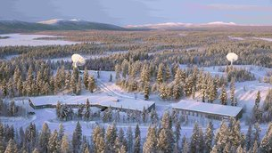 Kiruna is part of ESA's tracking station network – Estrack – a worldwide network linking satellites in orbit and ESA's operations centre, ESOC, in Germany
