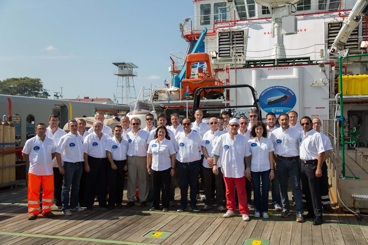 IXV mission engineers on board Nos Aries Panama