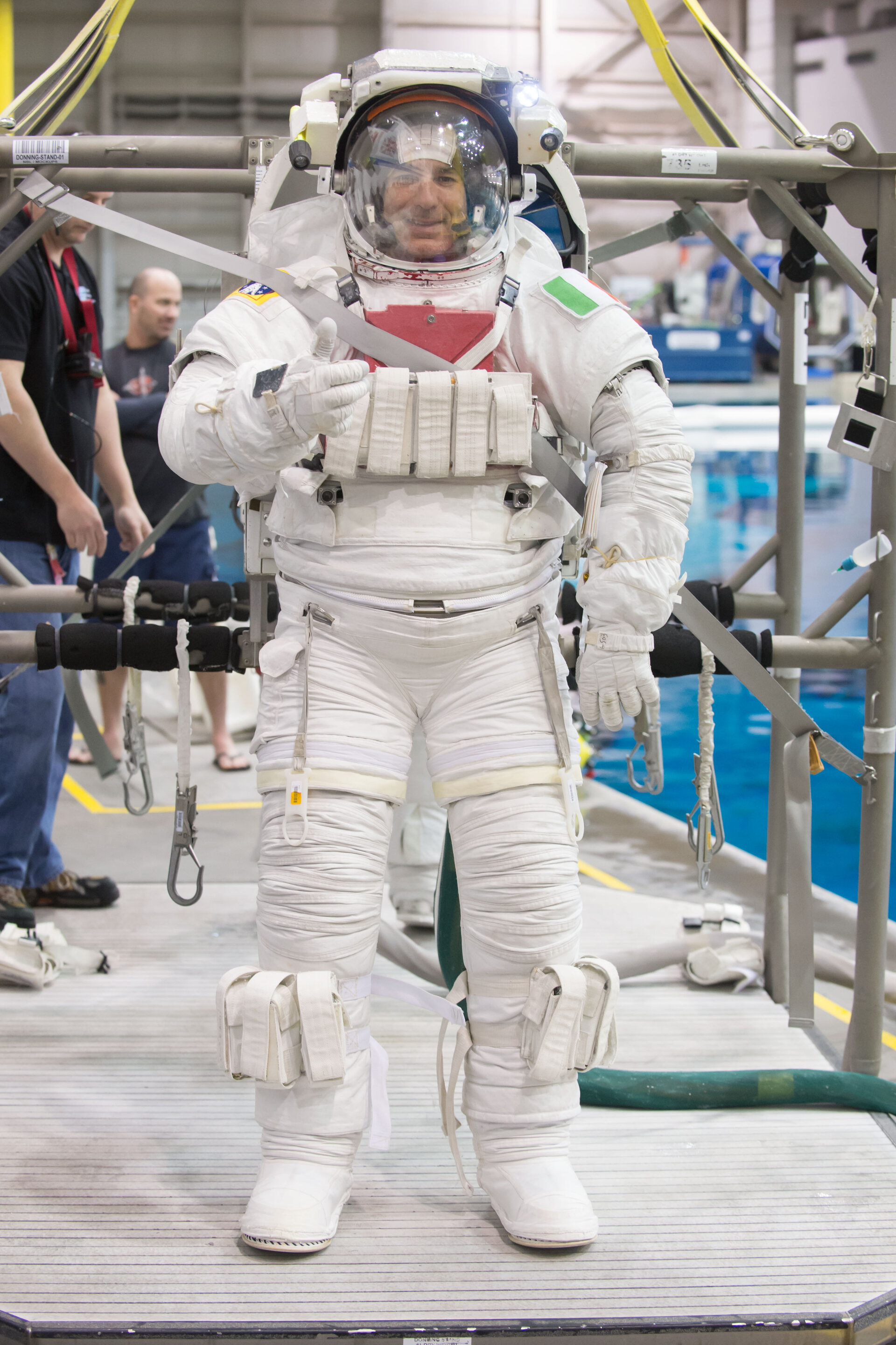 Luca Parmitano during training for INC-49/INC-50 ISS EVA Maintenance run