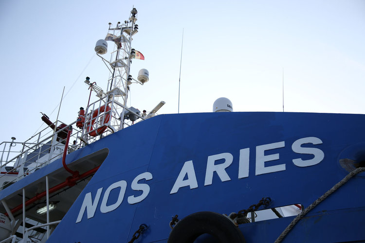 Nos Aries ship heading for the Pacific Ocean