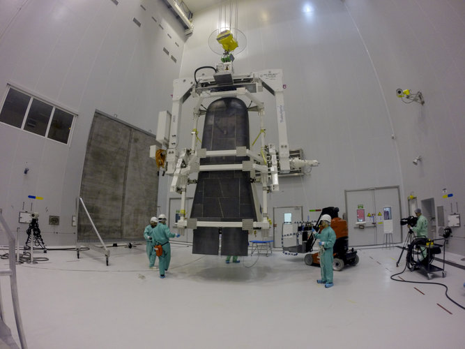 Preparing IXV for installation on its payload adapter
